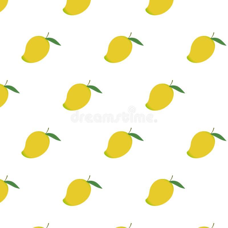 Mango naadloos patroon De kunst van zoet heerlijk fruitthema kijkt yummy vector illustratie