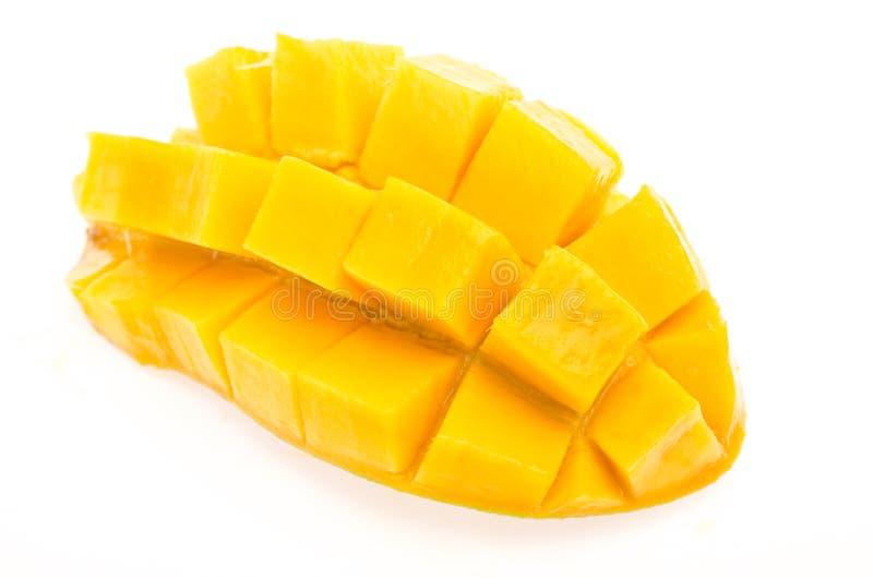 Mango op Witte Achtergrond stock afbeeldingen