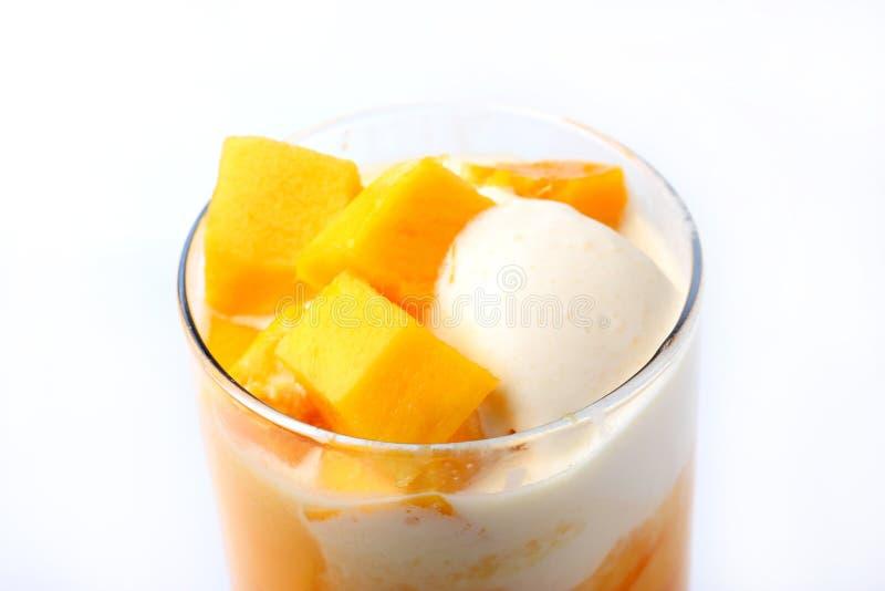 Mango pływakowy sok obrazy stock