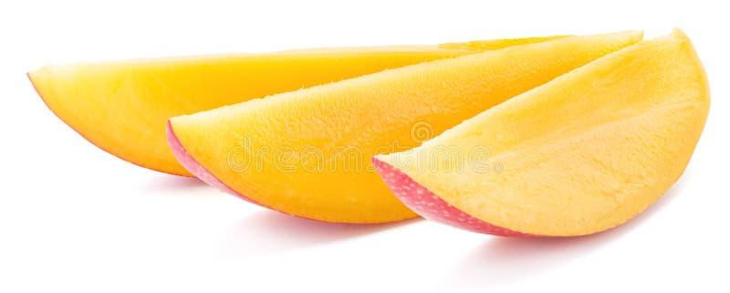 Mango-Scheiben Getrennt auf einem weißen Hintergrund stockfoto