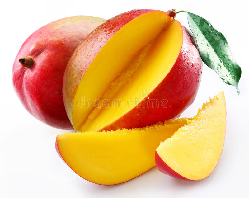 Download Mango with section stock image. Image of isolated, white - 10259679