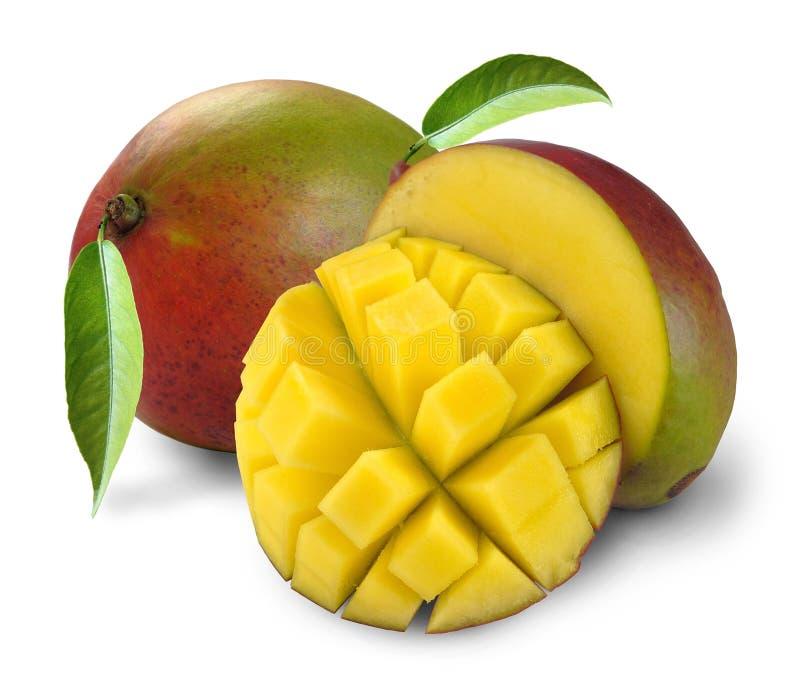 Mango with section stock image