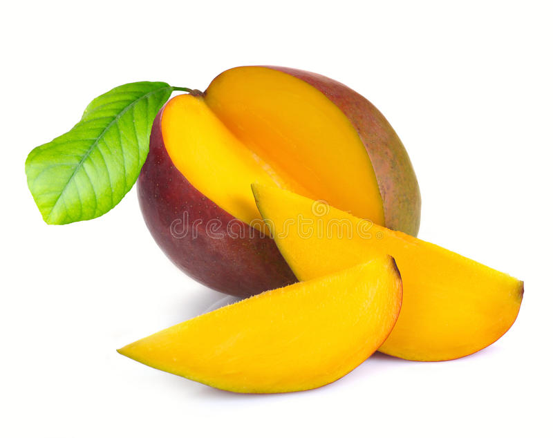 Mango with section royalty free stock photography