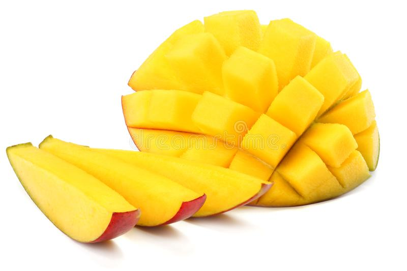 mango slice isolated on white background. healthy food royalty free stock photography