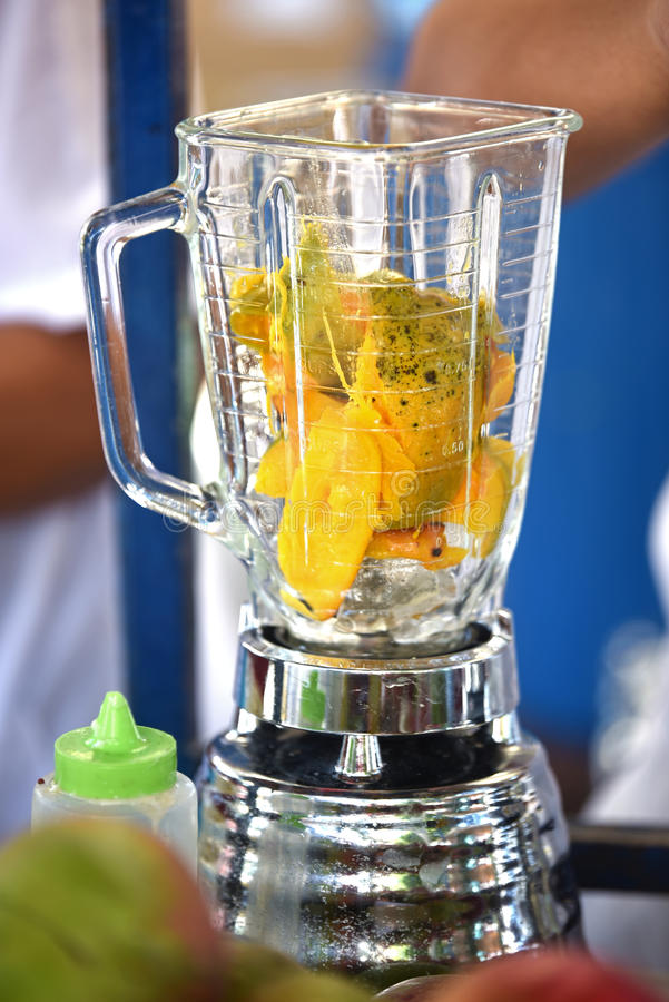 Mango smoothie stock foto