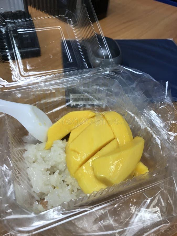 Mango with Sticky Rice royalty free stock image