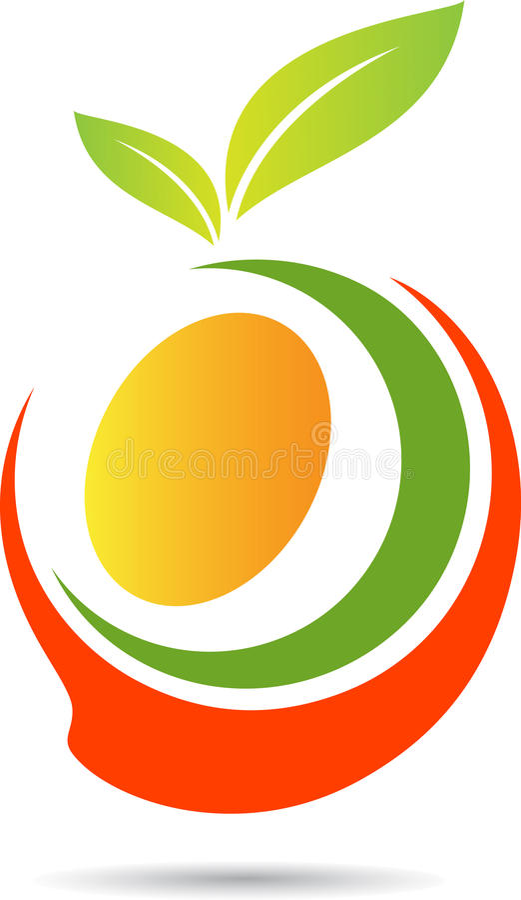 Mango. A vector drawing represents mango design royalty free illustration