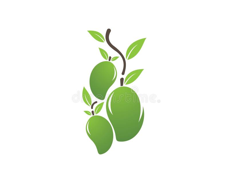 Mango vectorembleem royalty-vrije illustratie