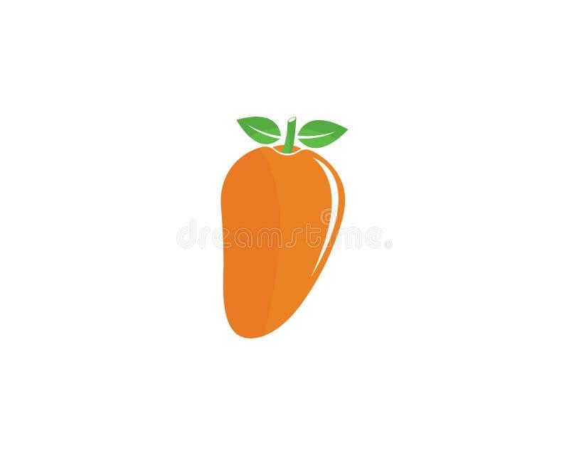 Mango in vlakke stijl Mango vectorembleem royalty-vrije illustratie