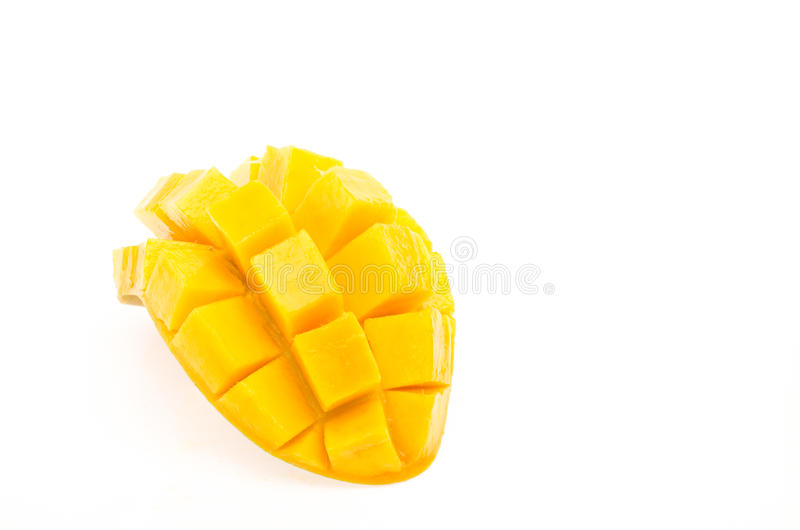 Mango on white background royalty free stock photo