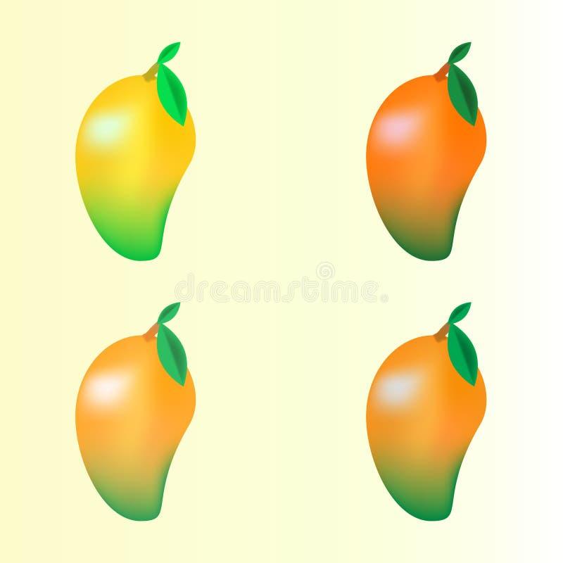 Mangofrucht-Logoentwurf für Ihre Firma vektor abbildung