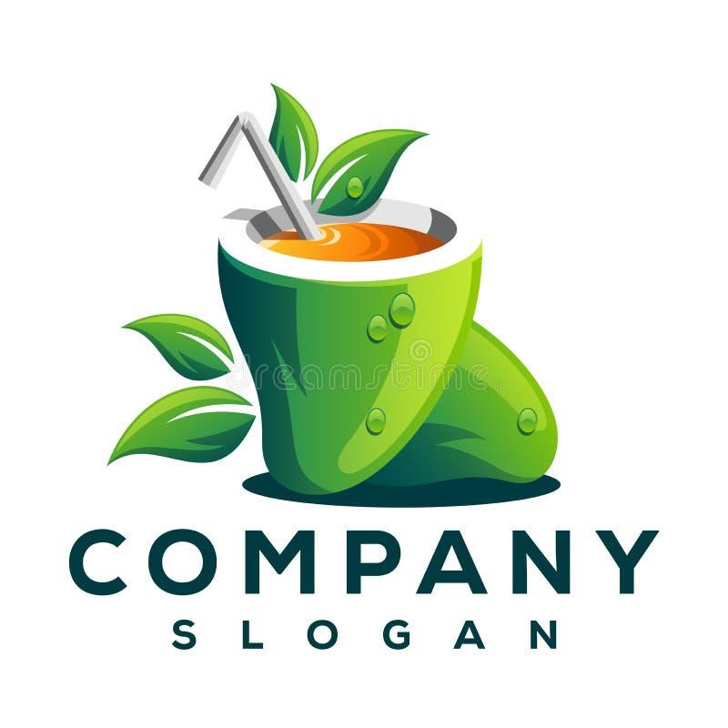 Mangofruchtlogo-Logoentwurf vektor abbildung