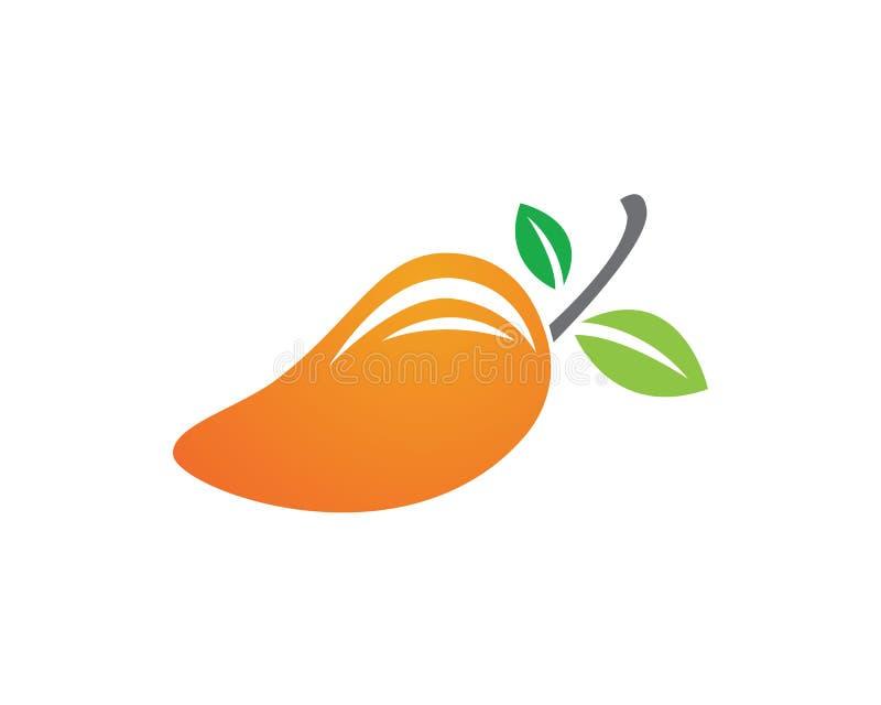 Mangofruchtlogo und Symbolikonen-APP stock abbildung
