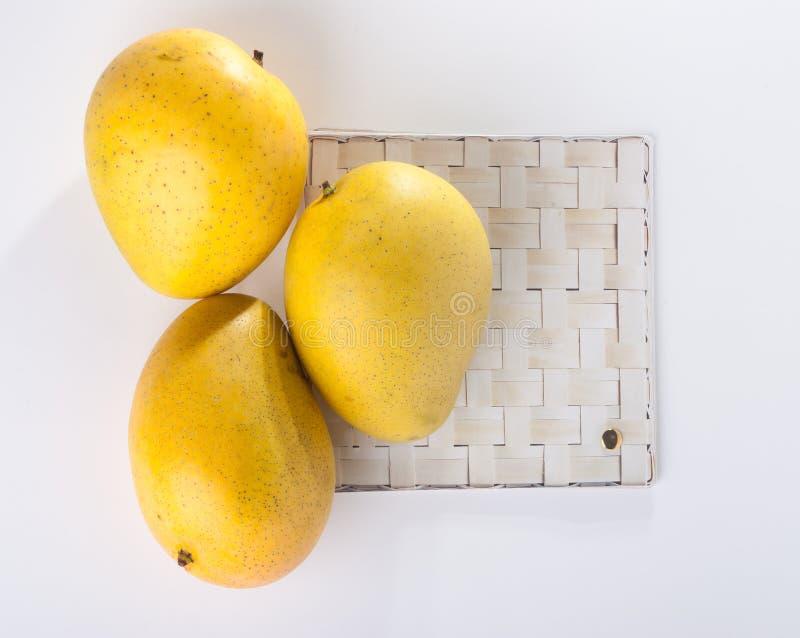 mangopflaume süße Mango auf Hintergrund stockfoto