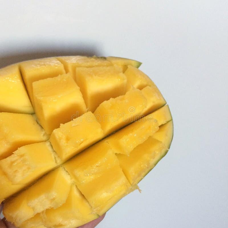 mangopflaume Tropische Frucht Kopieren Sie Raum stockfotos