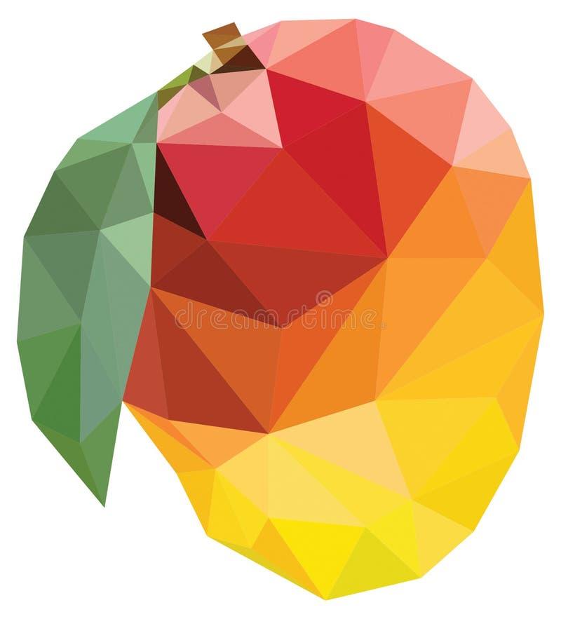 mangopolygon royaltyfri illustrationer