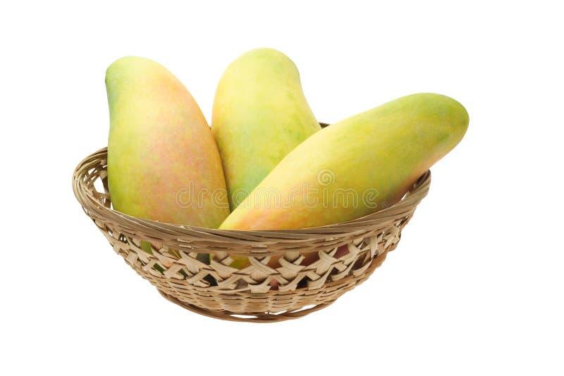 Mangos en cesta fotografía de archivo libre de regalías