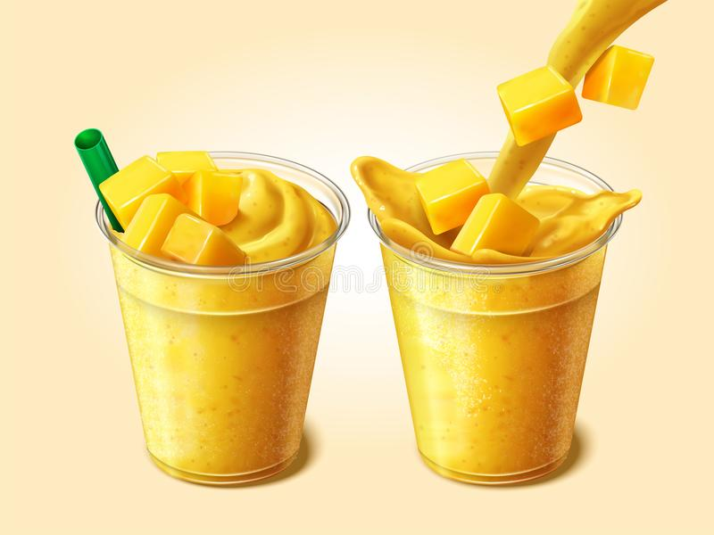 Mangosap of smoothie vector illustratie