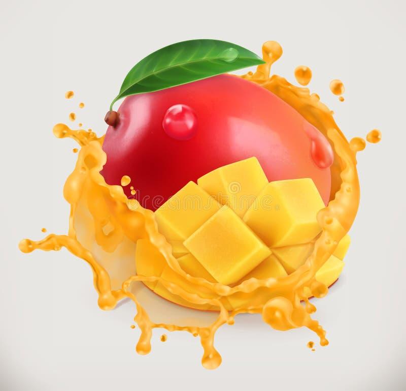 Mangosap Vers fruit, vectorpictogram royalty-vrije illustratie