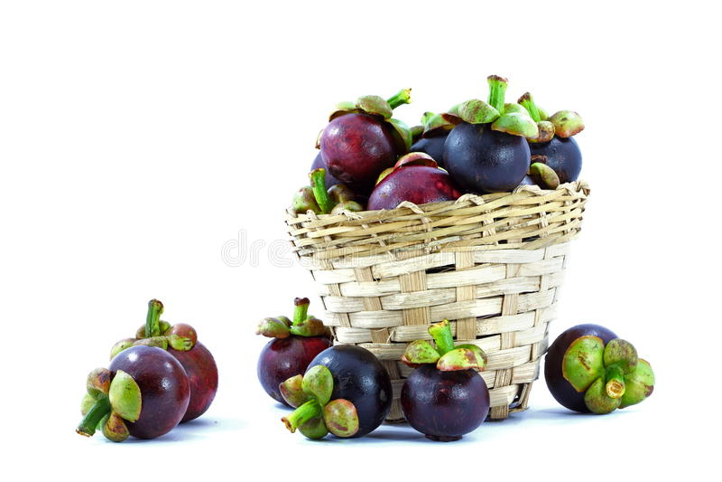 Mangostanfrucht lizenzfreies stockfoto