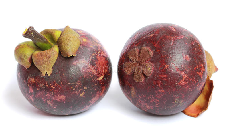 Mangostano viola - frutta tropicale immagini stock libere da diritti