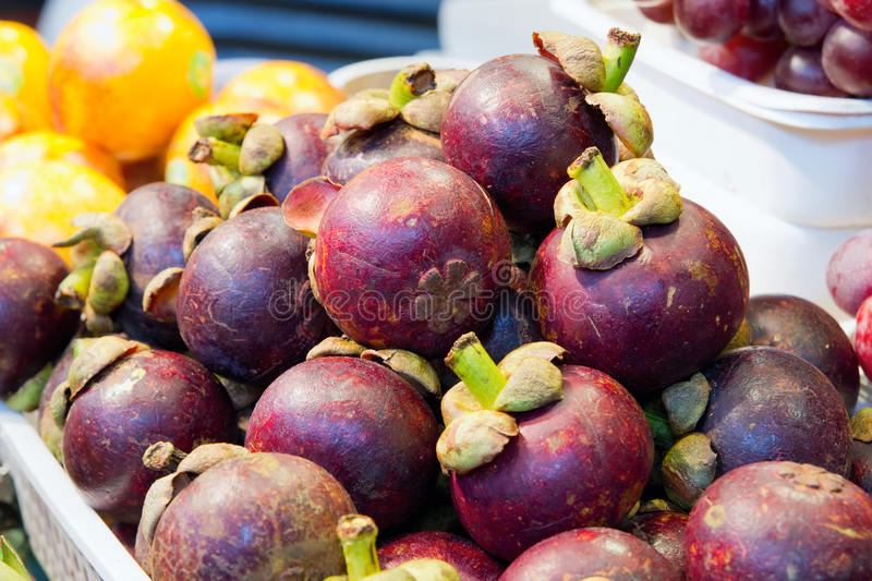 Mangosteen Fruits Royalty Free Stock Image