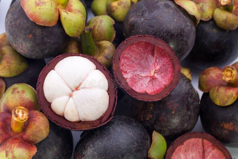 Mangosteenfrukt arkivbilder