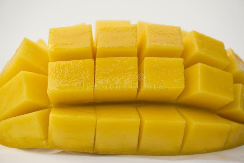 Mangoweißhintergrund stockfotos