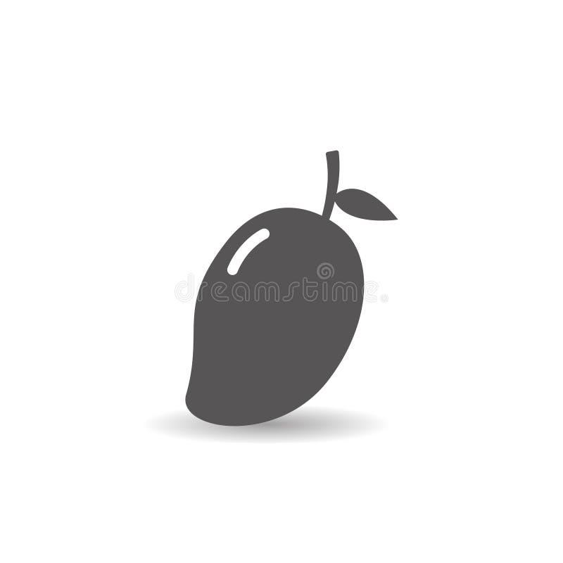 Mangowej owocowej ikony mieszkania stylu wektoru prosta ilustracja ilustracji
