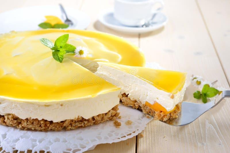 Mangowy cheesecake zdjęcie stock