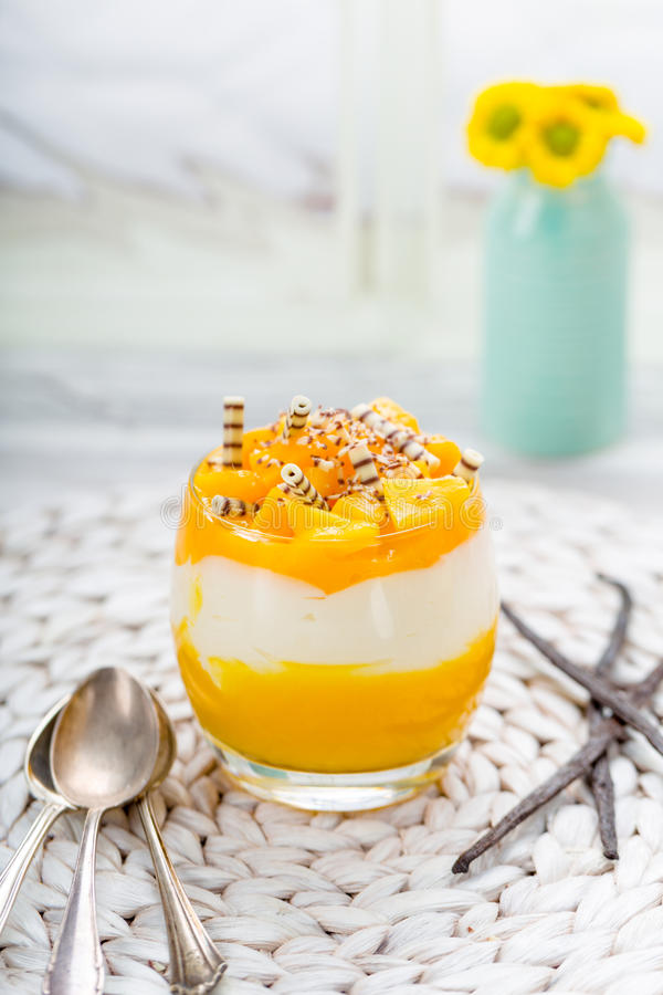 Mangowy deser obraz stock