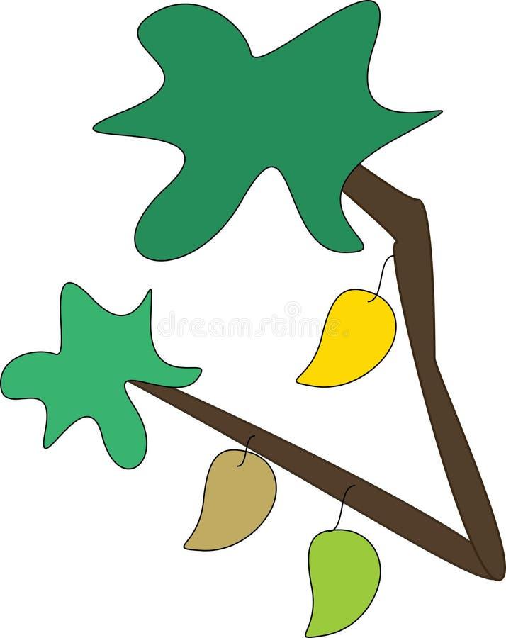 Mangowy drzewo ilustracji