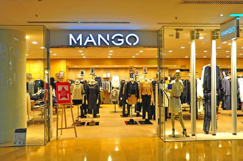 Mangowy odzież sklepu Hong kong zdjęcia royalty free