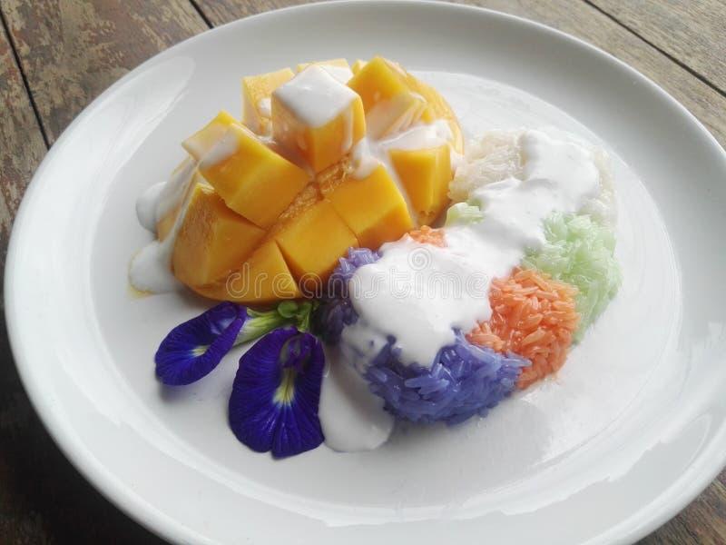 mangowy ryżowy kleisty zdjęcie stock