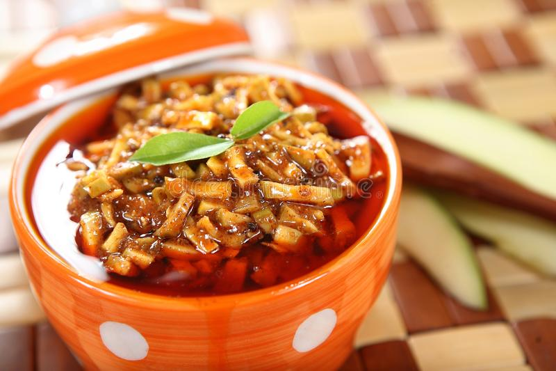 Mangowy zalewy/Aam ka Achar/Mangai thokku fotografia royalty free