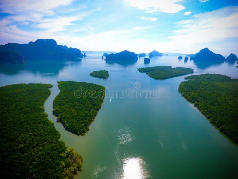 Mangrovia dell'arcipelago fotografia stock