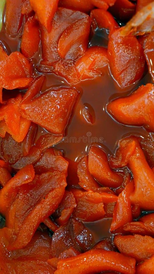 Mangue épicée à l'arrière-plan frais de texture de sauce image libre de droits