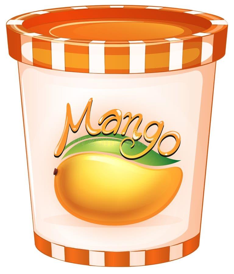 Mangue dans la tasse orange illustration libre de droits