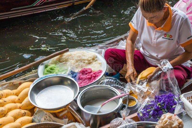 Mangue et riz collant photos stock