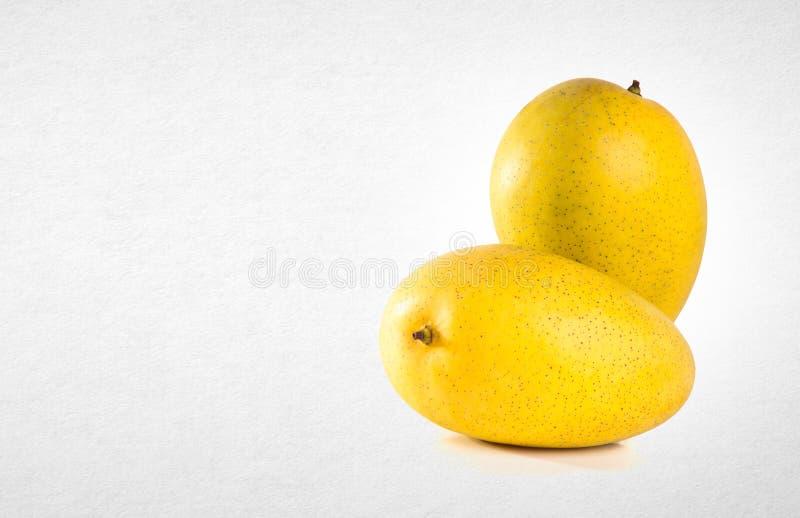 mangue ou mangue jaune sur un fond image stock