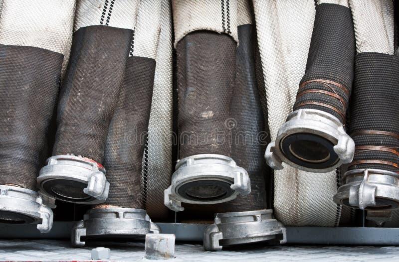 Mangueiras do carro de bombeiros foto de stock royalty free