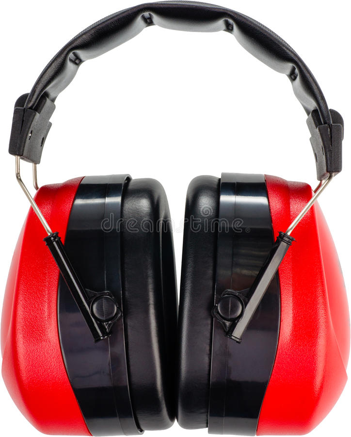 Manguitos de la protección auditiva fotografía de archivo