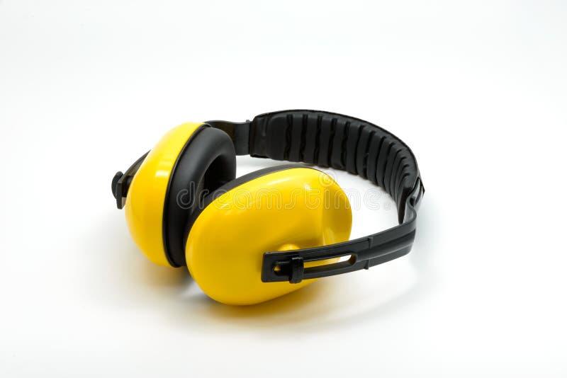 Manguitos protectores del oído aislados imagen de archivo libre de regalías