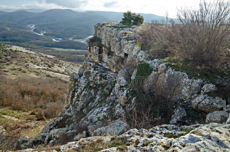 Mangup-chou frisé de plateau (Crimée) images libres de droits