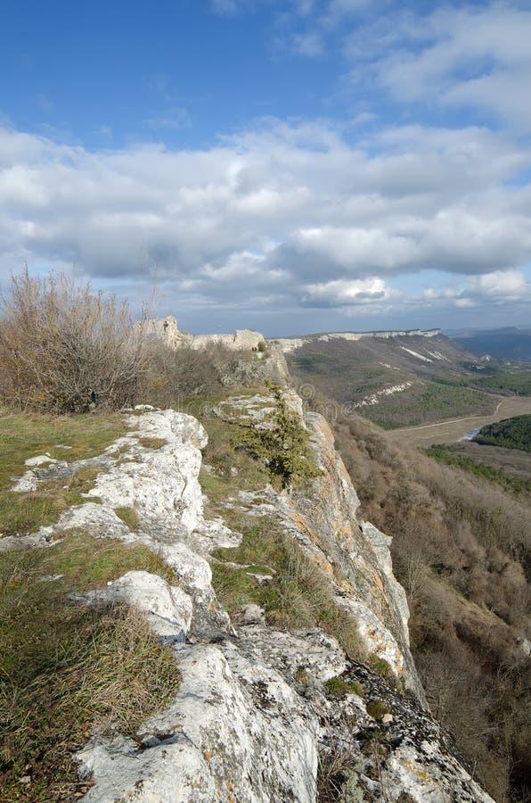 Mangup-chou frisé de plateau (Crimée) image libre de droits