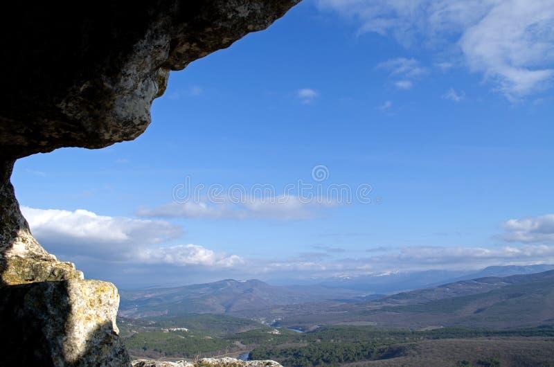 Mangup-chou frisé de plateau (Crimée) photographie stock
