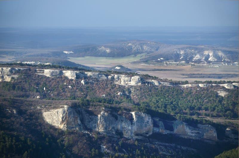 Mangup-chou frisé de plateau (Crimée) photos libres de droits