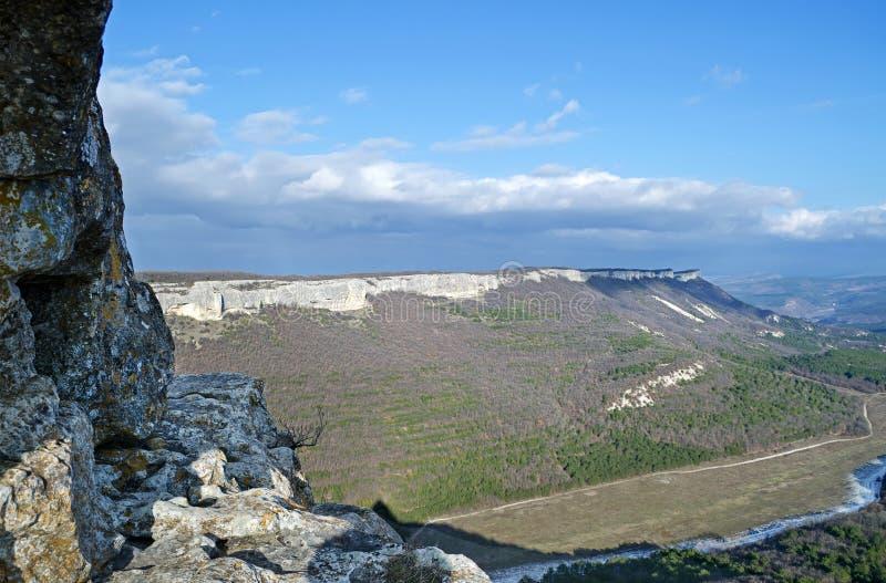 Mangup-chou frisé de plateau et x28 ; Crimea& x29 ; image libre de droits