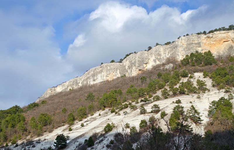 Mangup-chou frisé de plateau et x28 ; Crimea& x29 ; photographie stock