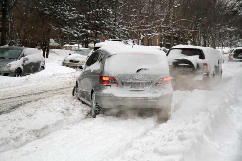 Manhã após a tempestade de neve do inverno fotos de stock